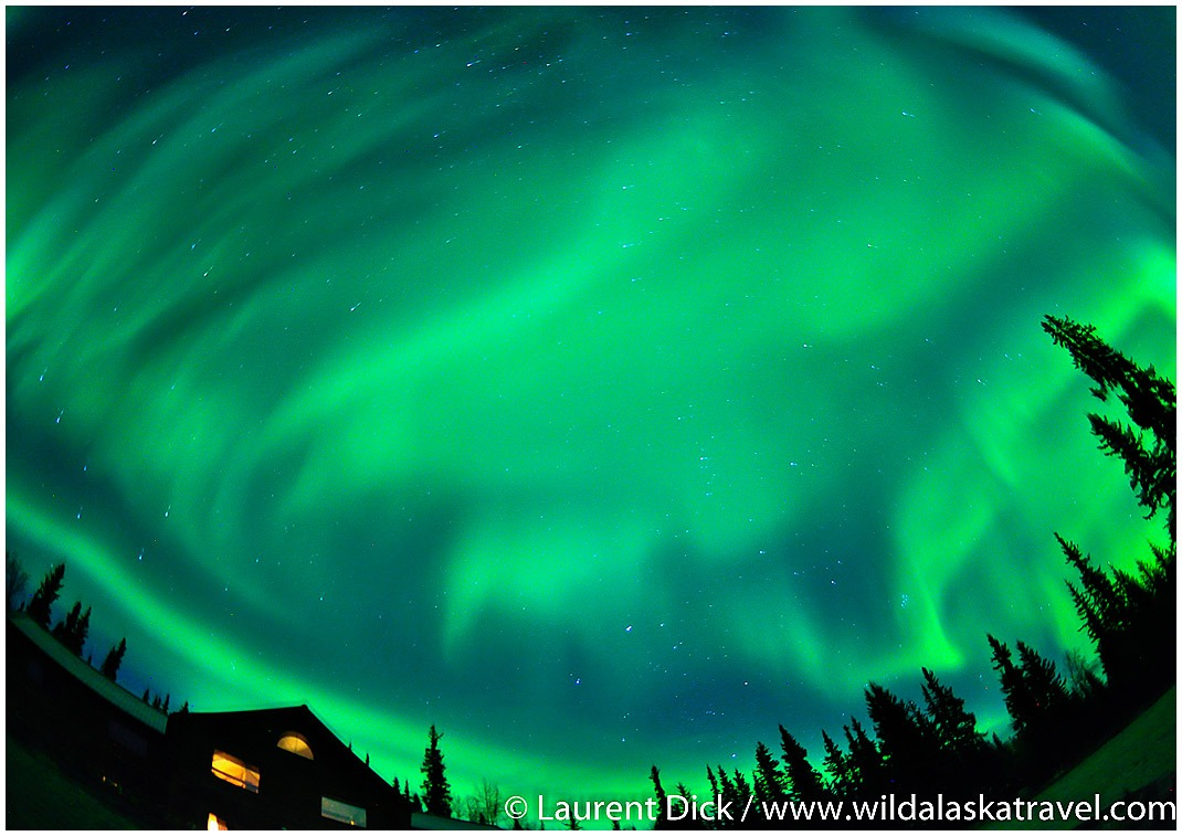 Enjoy watching the northern lights at A Taste of Alaska Lodge