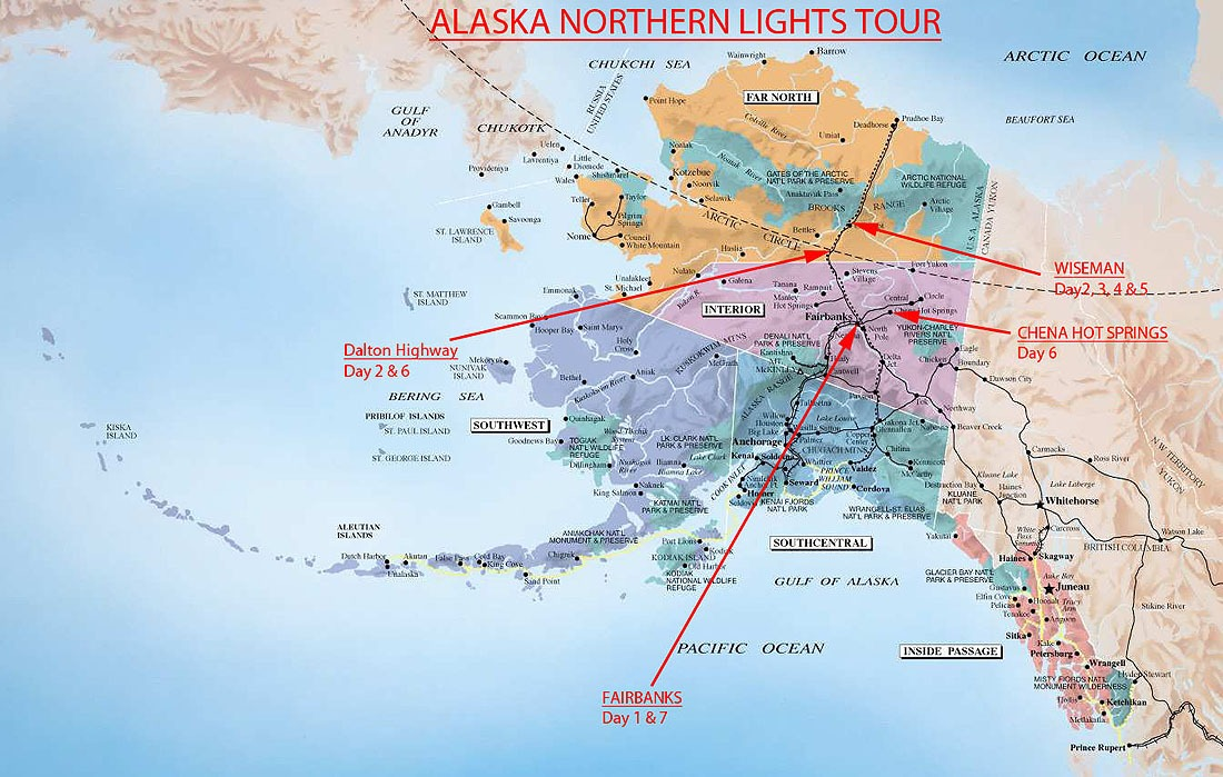 Alaska-Map-Alaska-Northern-Lights-Tour