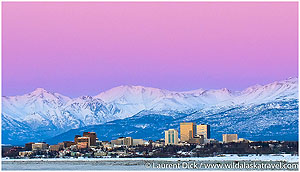 Day-1-Dusk-over-Chugach-Mountains-and-downtown-Anchorage-Photo-c-Laurent-Dick-Wild-Alaska-Travel