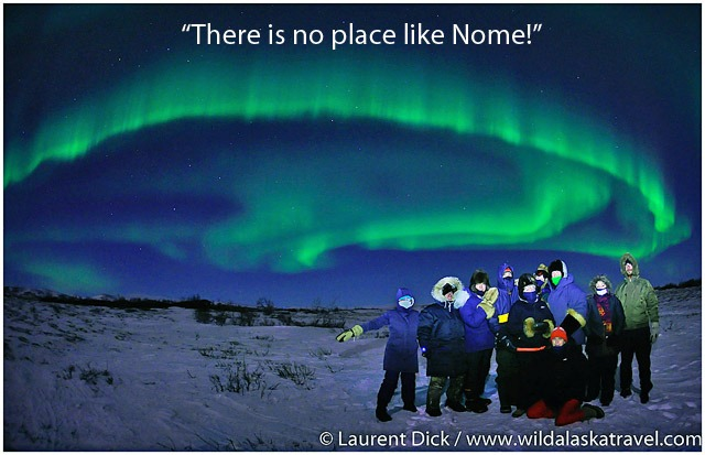 Iditarod Finish Northern Lights Tour with Wild Alaska Travel Photo c Laurent Dick