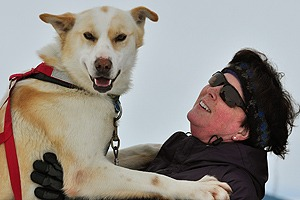 Janet-Hart-Testimonial-Iditarod-Finish-Northern-Lights-Tour