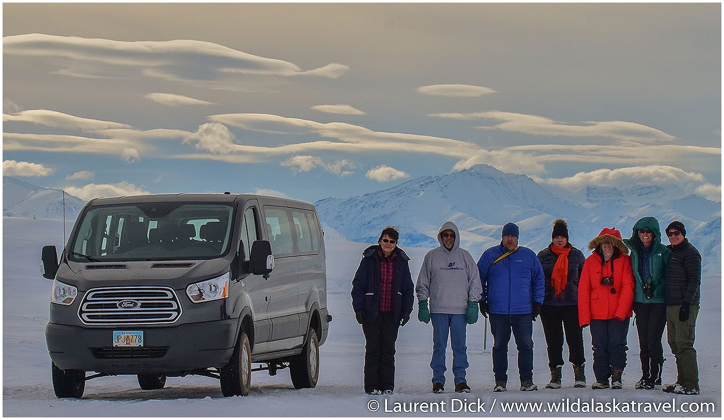 Wild Alaska Travel guests along the Dalton HIghway